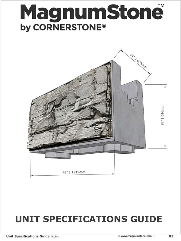 MagnumStone Unit Specifications Guide