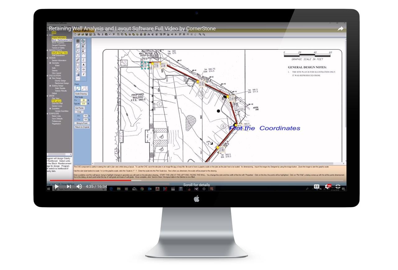 MagnumStone Wall Designer Analysis & Layout Software Screenshot 1