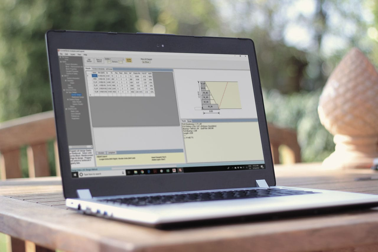 MagnumStone Wall Designer Analysis & Layout Software Screenshot 2