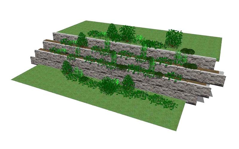 Magnumstone Planter Wall