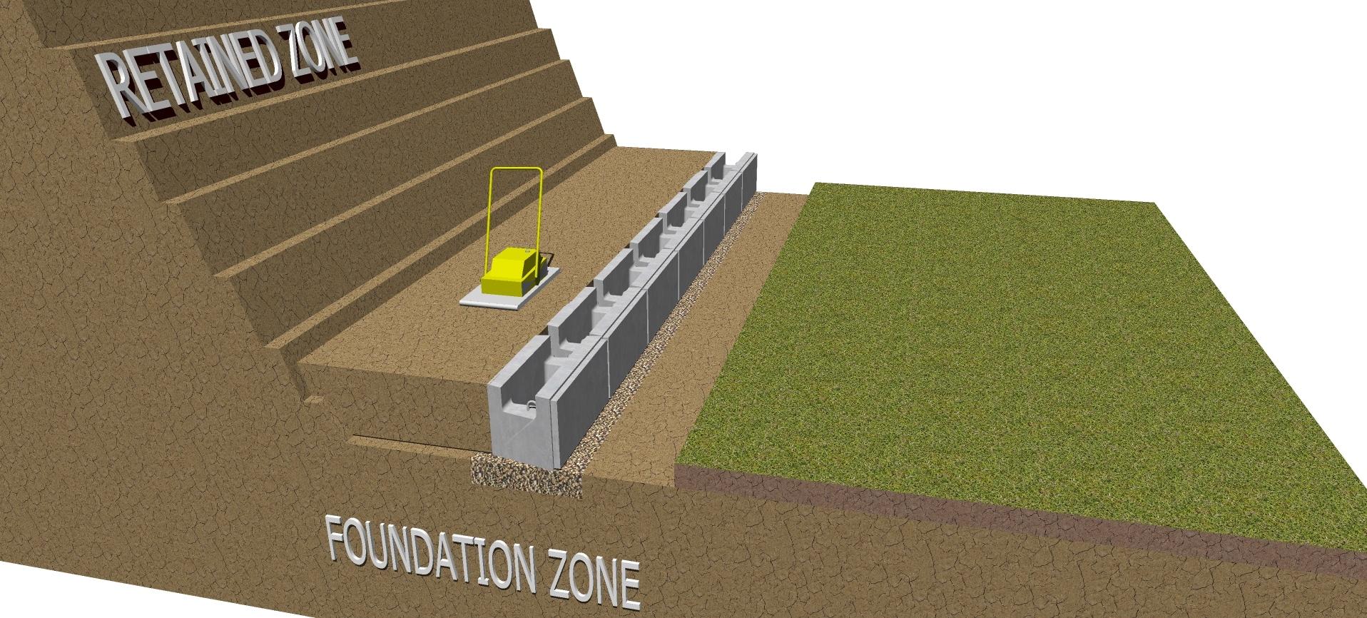 Backfill retaining wall MagnumStone