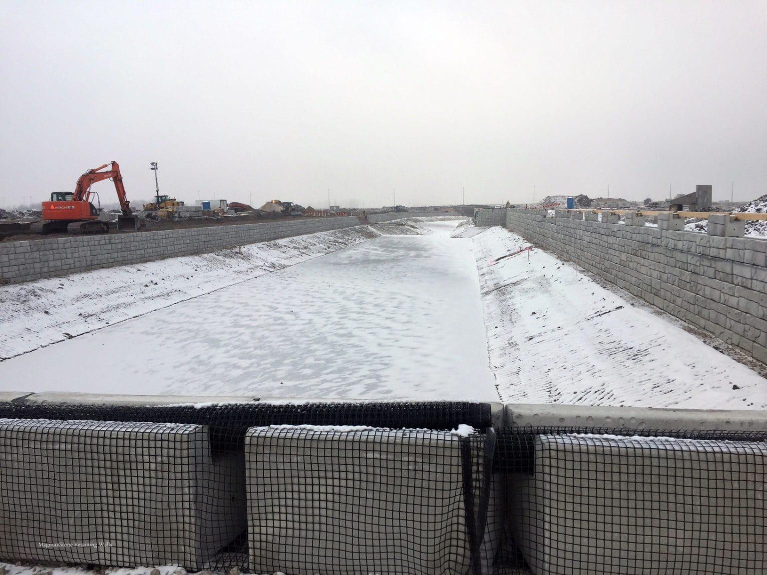 MagnumStone Geogrid Retaining Wall Preparation