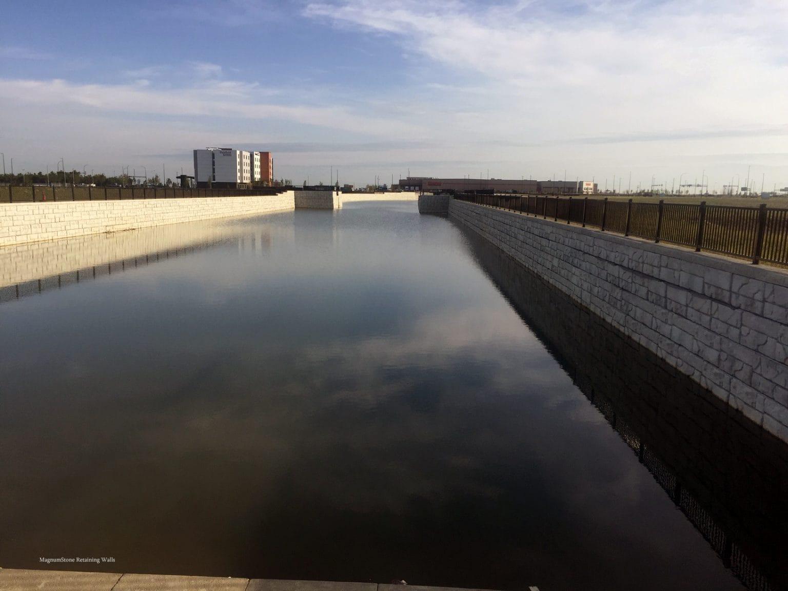 MagnumStone Geogrid Retaining Wall Water Application Edmonton