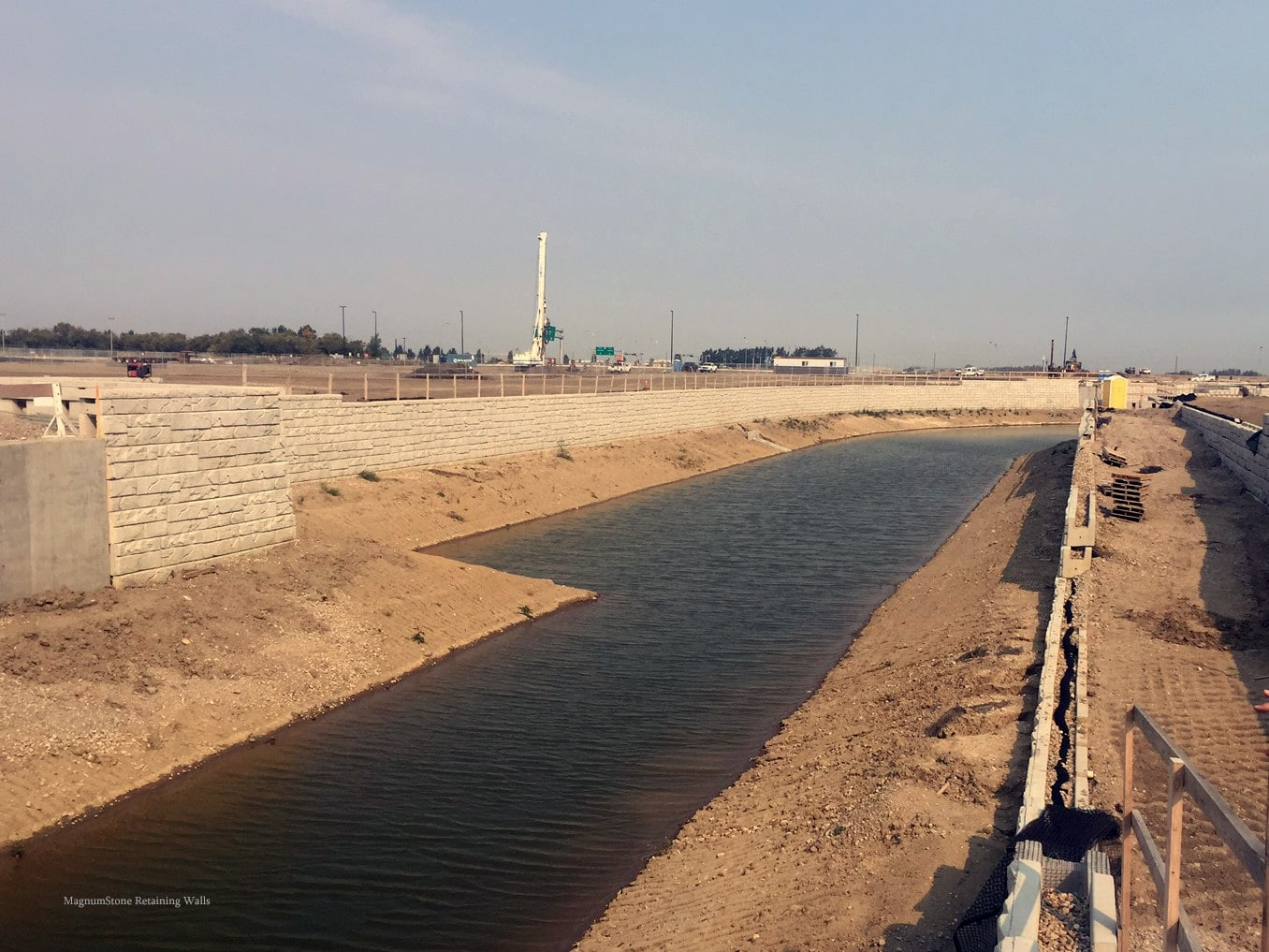 MagnumStone Geogrid Retaining Wall Water Application