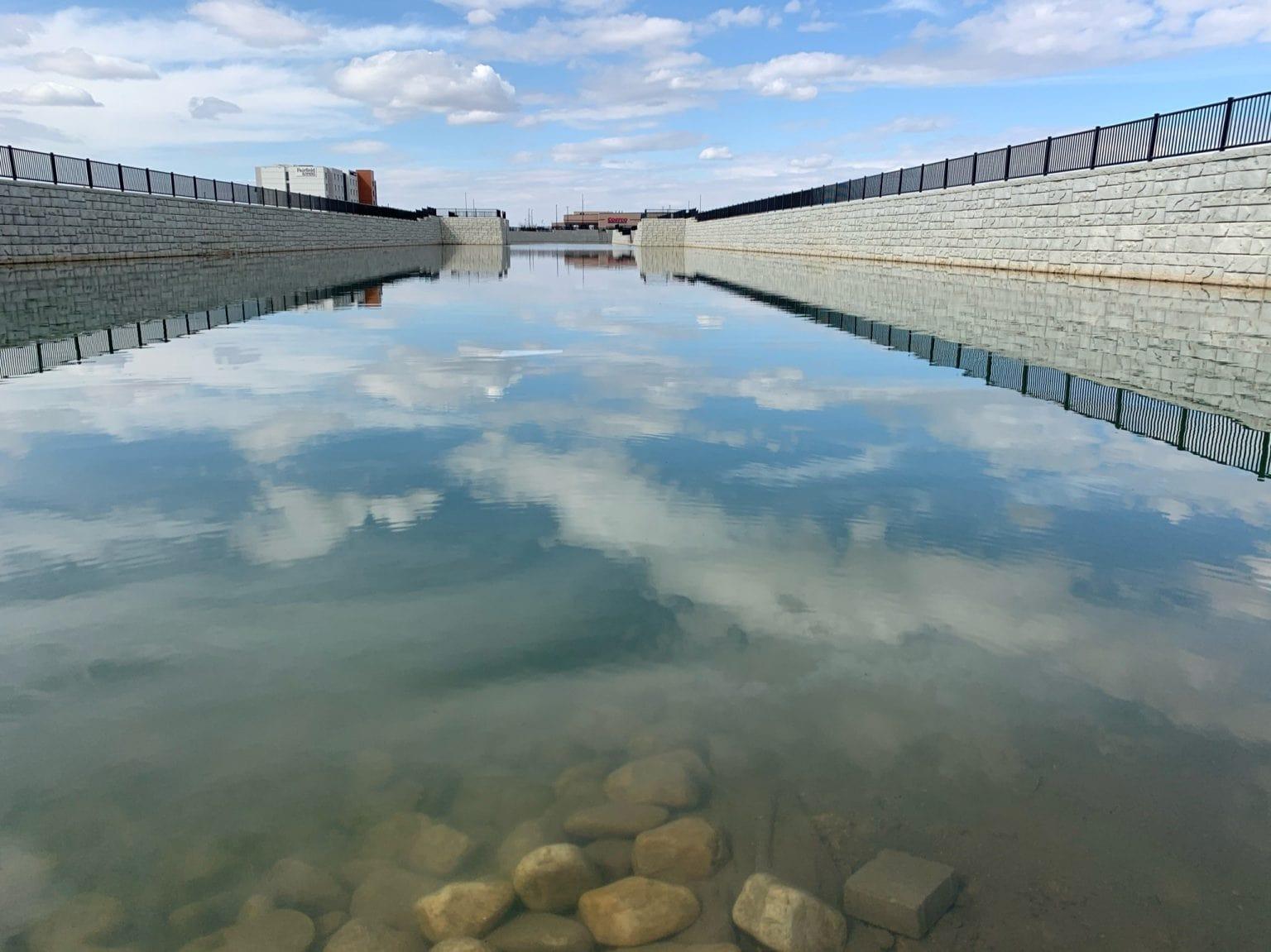 MagnumStone Retaining Wall Retention Basin