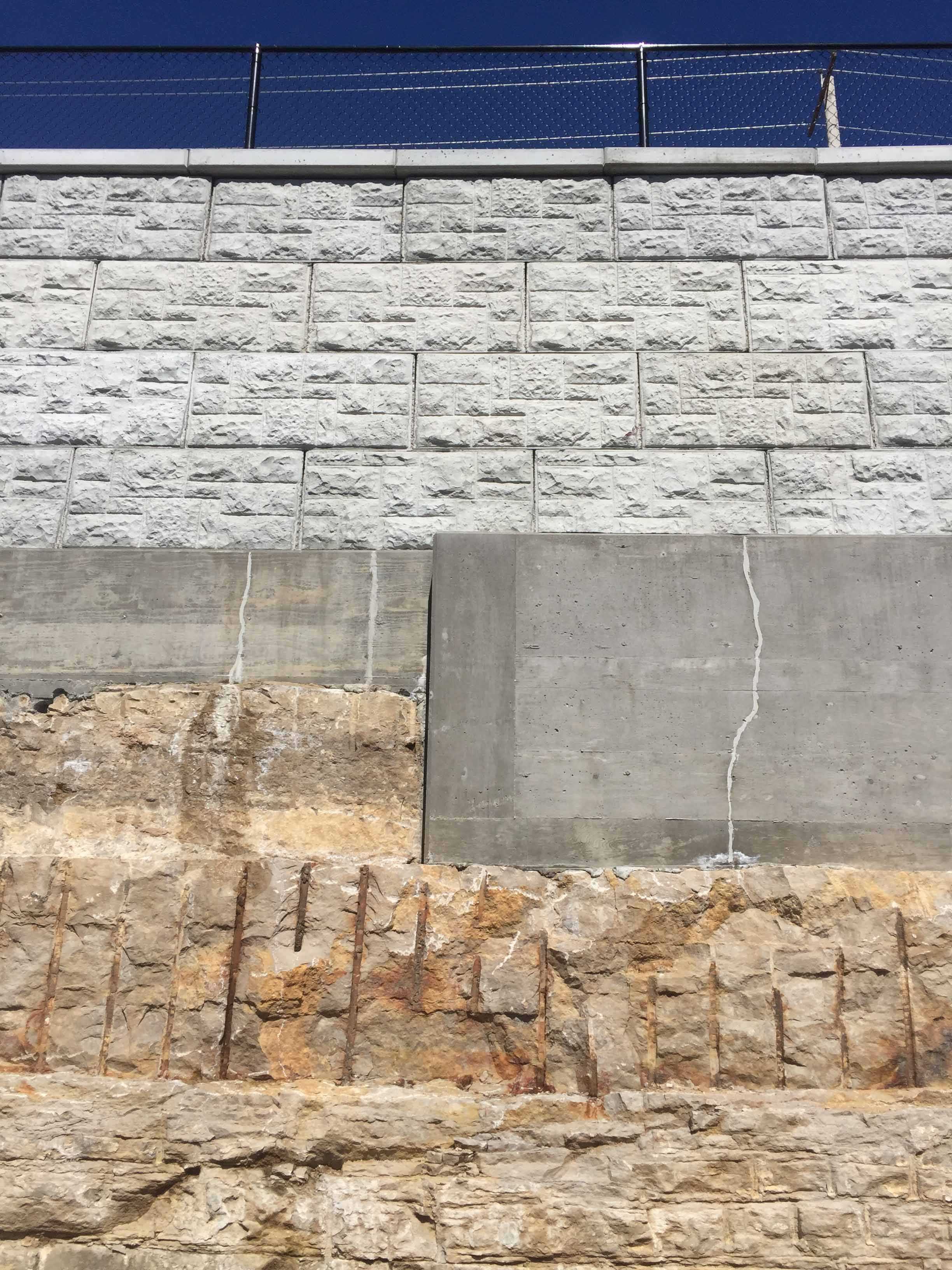 MagnumStone castle face retaining wall in st louis missouri