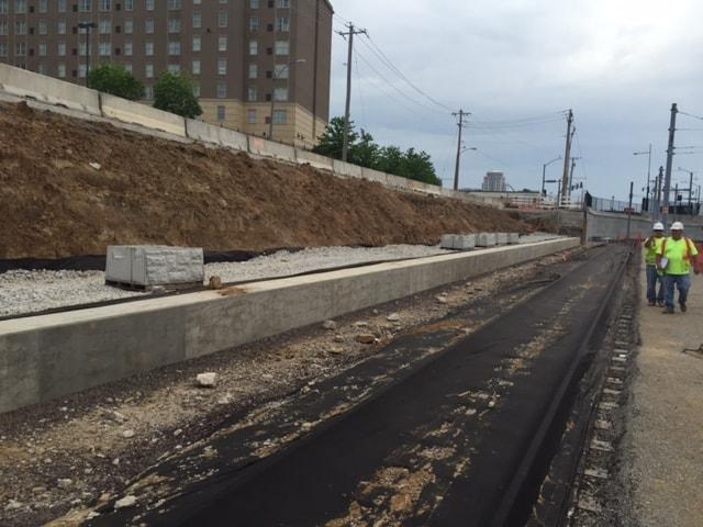 Magnumstone Retaining Wall St Louis Metro on slab