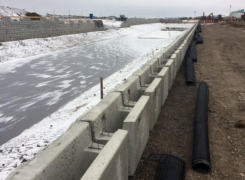 Preparing MagnumStone Geogrid Retaining Wall
