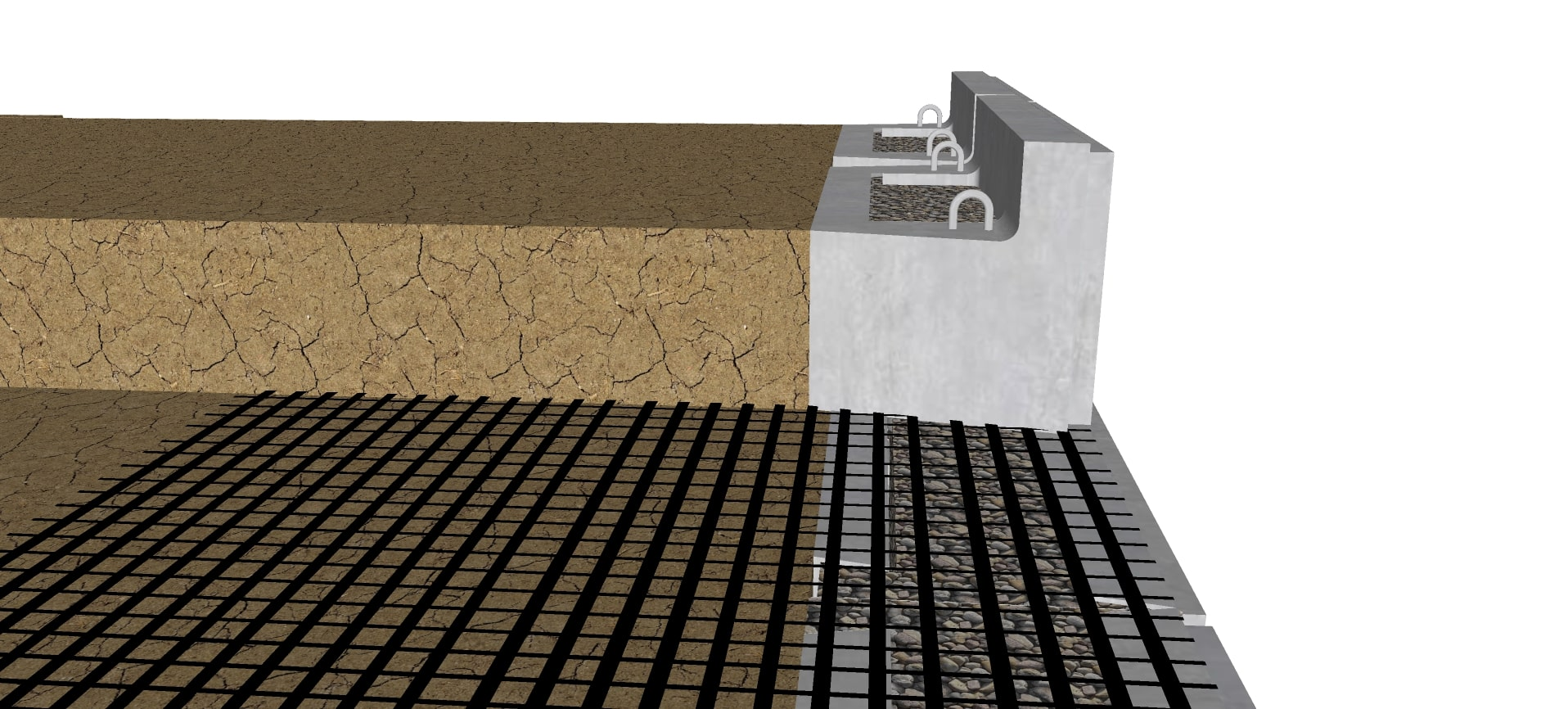 Top block for geogrid retaining wall
