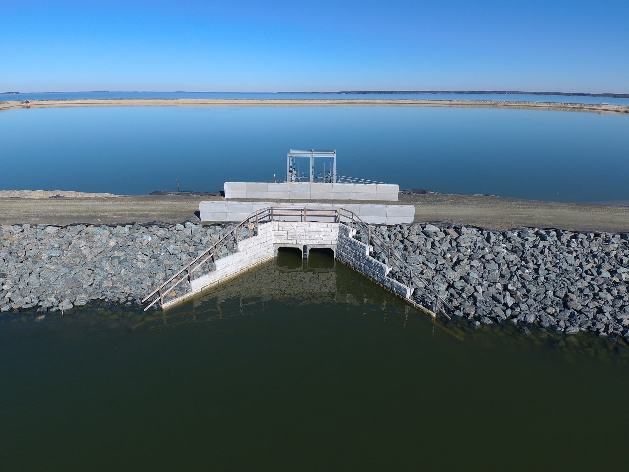 Water Application - Poplar Island Spillway and MagnumStone Retaining Wall