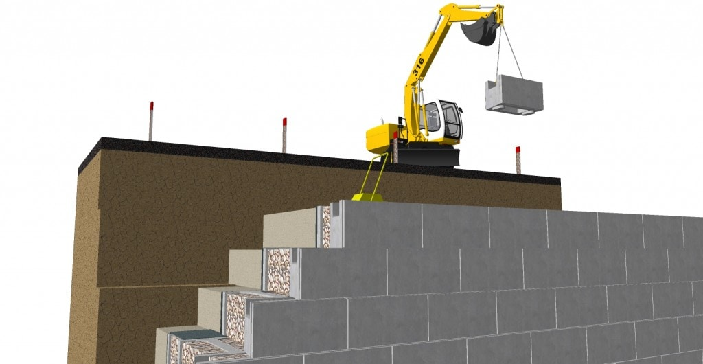 finishing-the-top-of-gravity-retaining-wall
