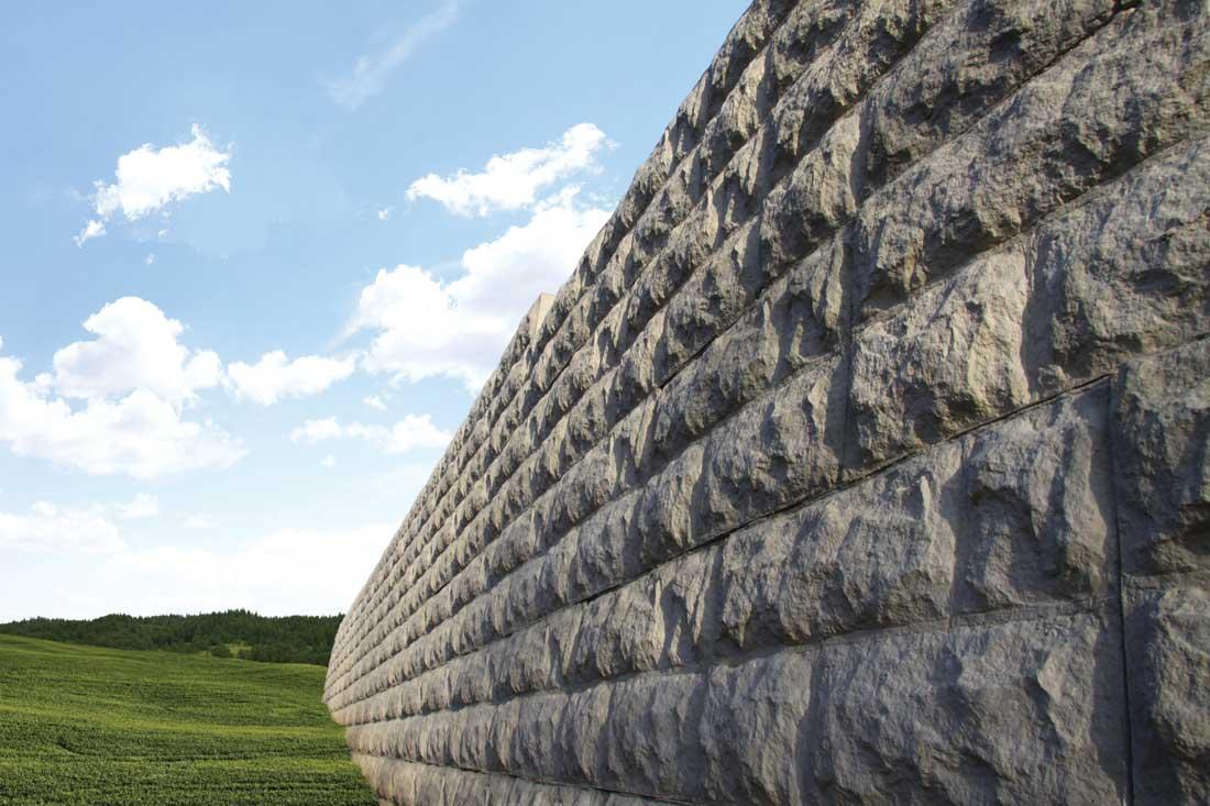 MagnumStone Block Retaining Wall Random Boulder Face