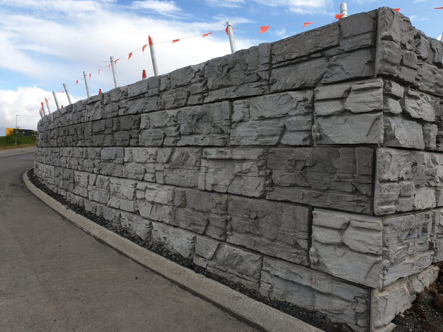 MagnumStone Ledge Face Retaining Wall at a hospital in Iceland