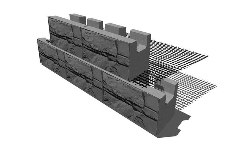 Magnumstone Geogrid Wall