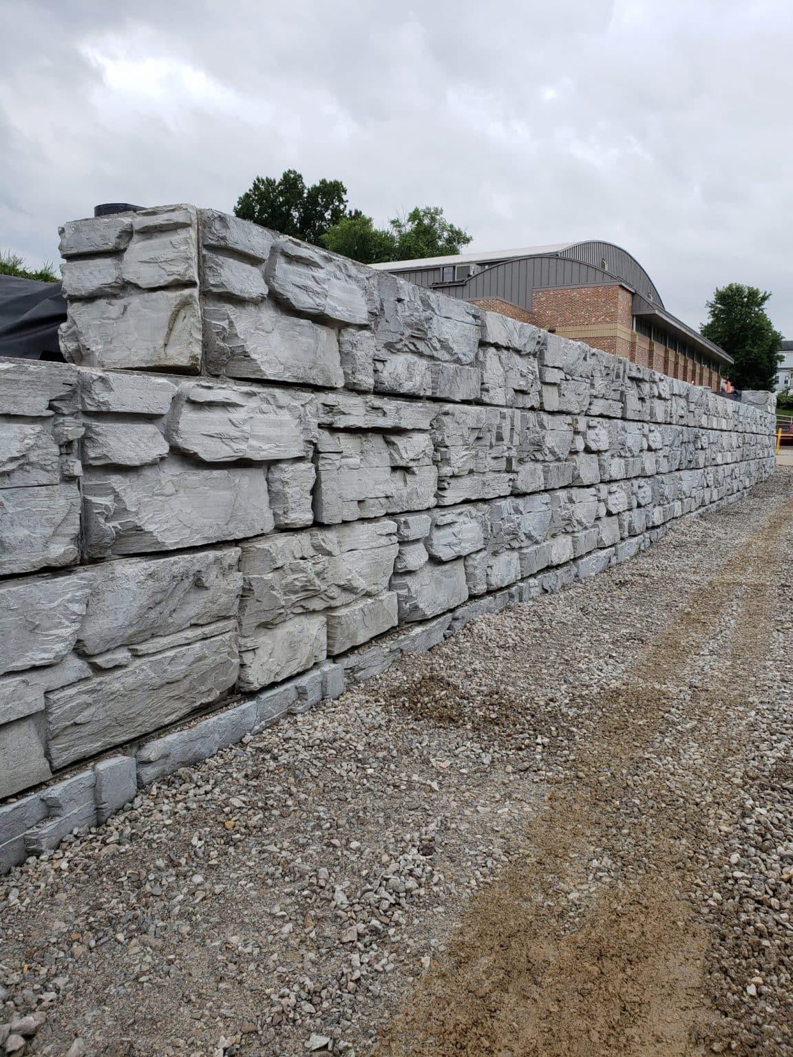 6 foot high MagnumStone Wall showcasing natural rock texture
