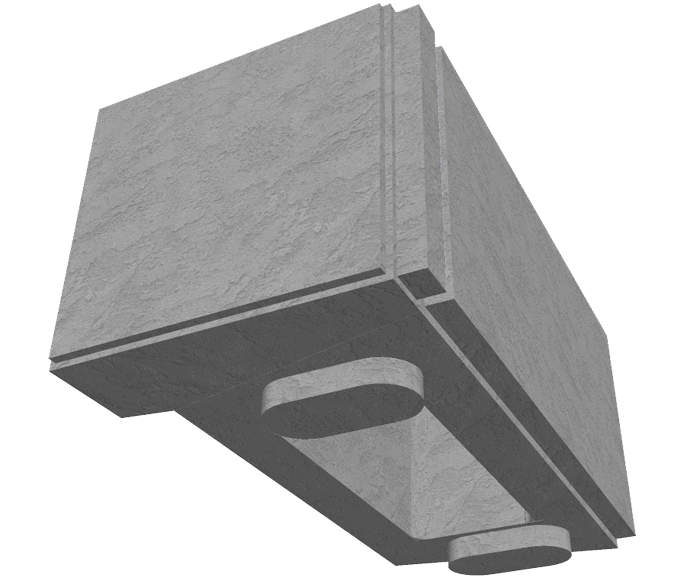 MagnumStone Hollow Core Retaining Wall Corner Unit