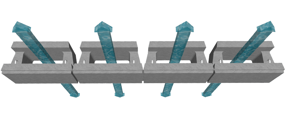 MagnumStone Hollow Core Drainage Diagram