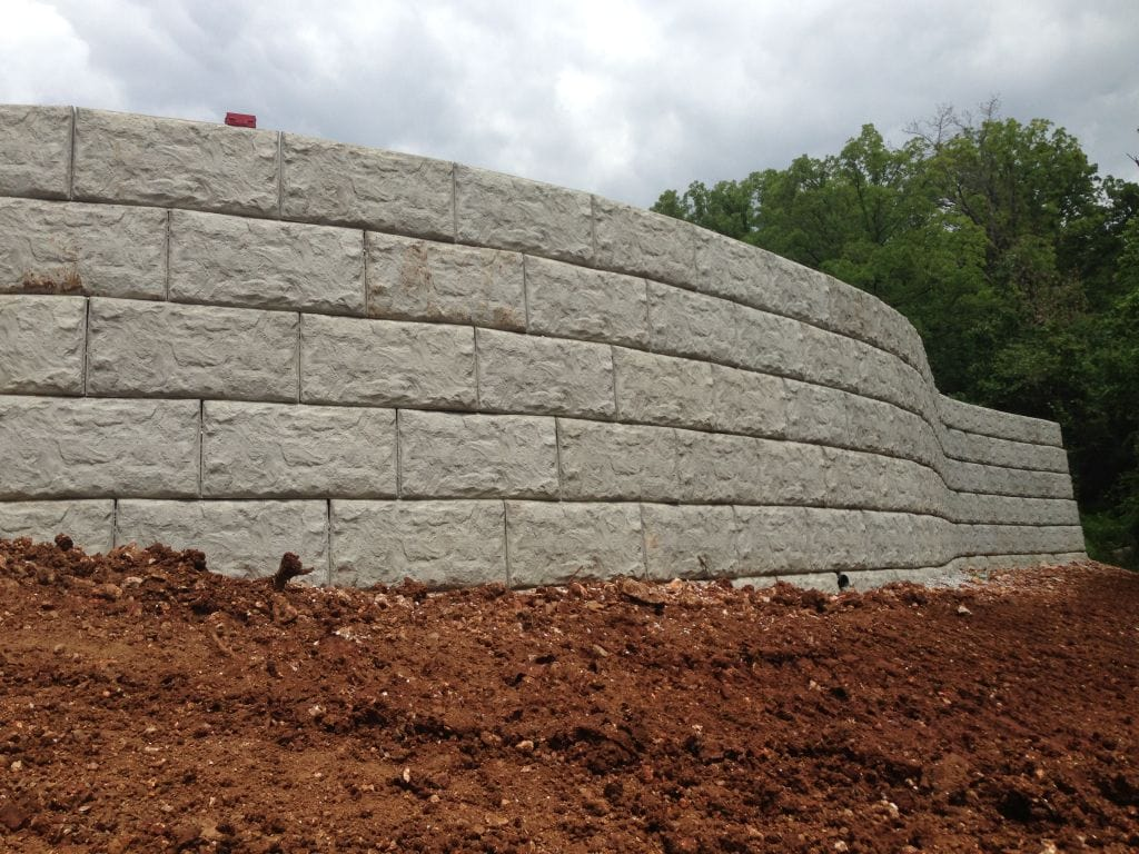 MagnumStone Block Retaining Wall Random Texas Boulder Face