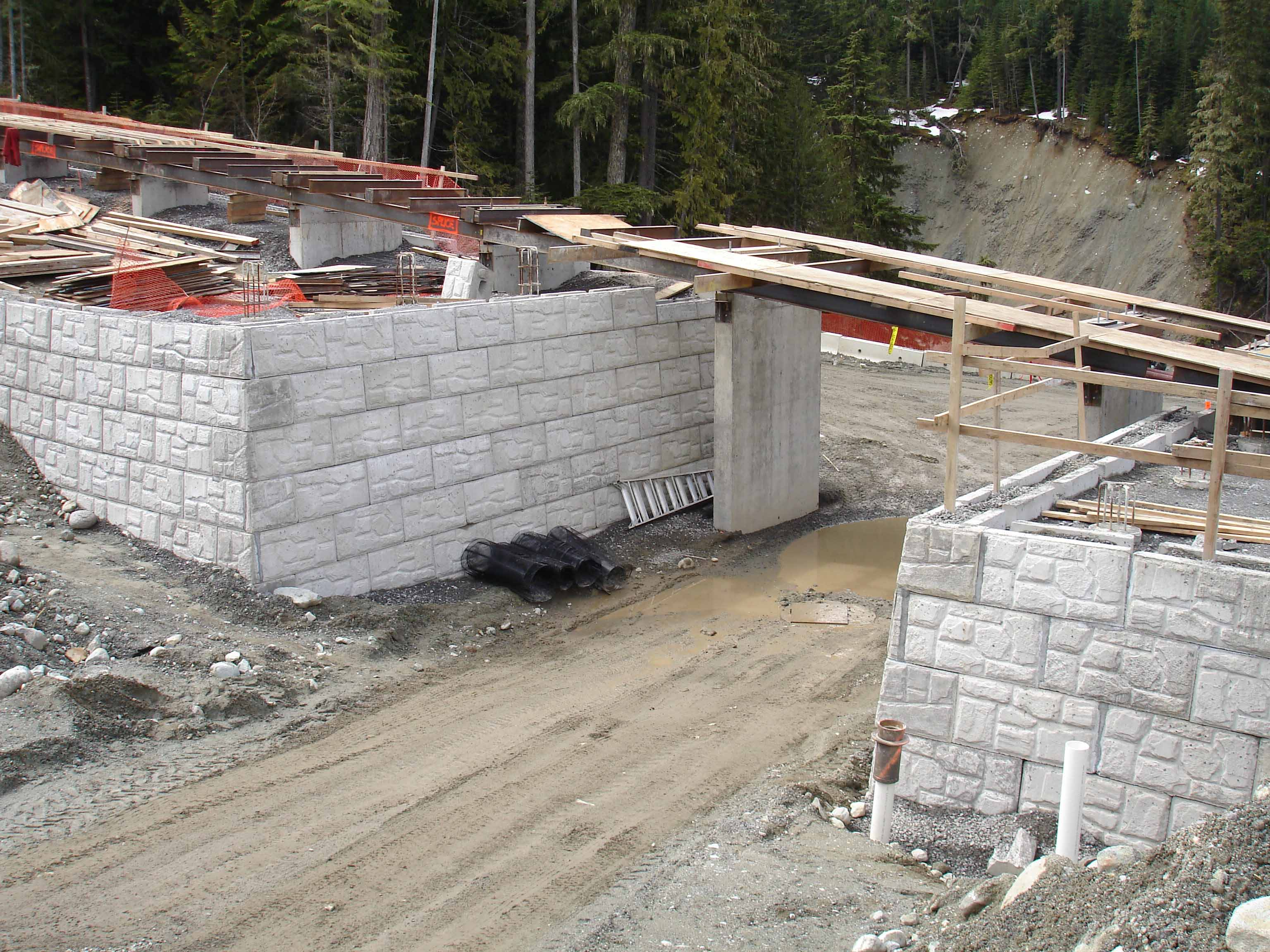magnumstone retaining wall vancouver olymics bridge abutment