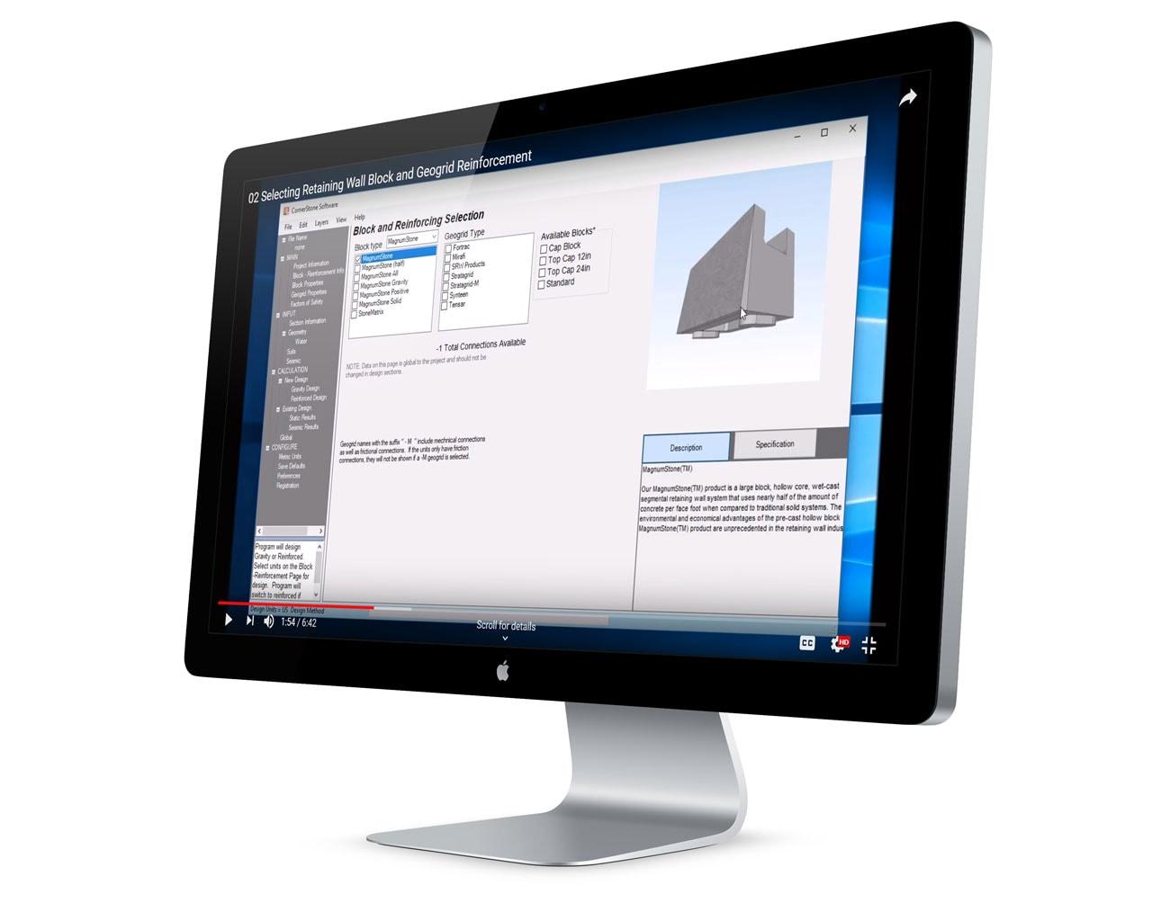 MagnumStone Wall Designer Analysis & Layout Software Screenshot 3