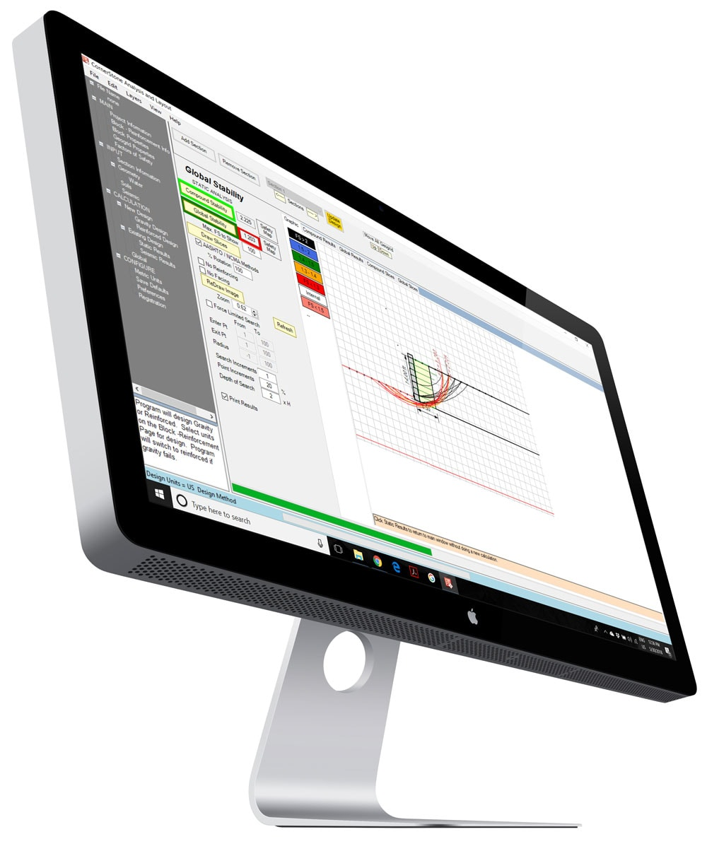 MagnumStone Wall Designer Analysis & Layout Software Screenshot 4