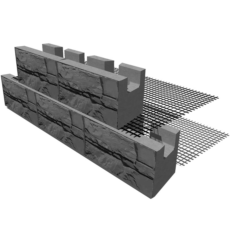 MagnumStone Geogrid retaining Wall
