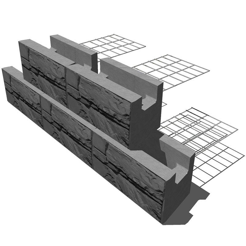 MagnumStone Steel Grid Retaining Wall