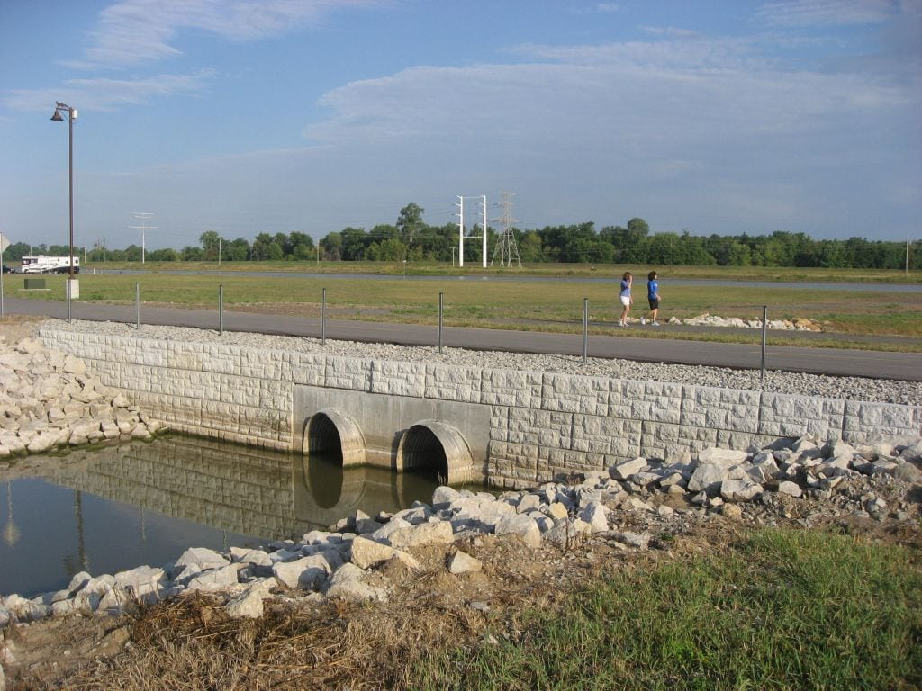 Water Culvert Retaining Wall by MagnumStone