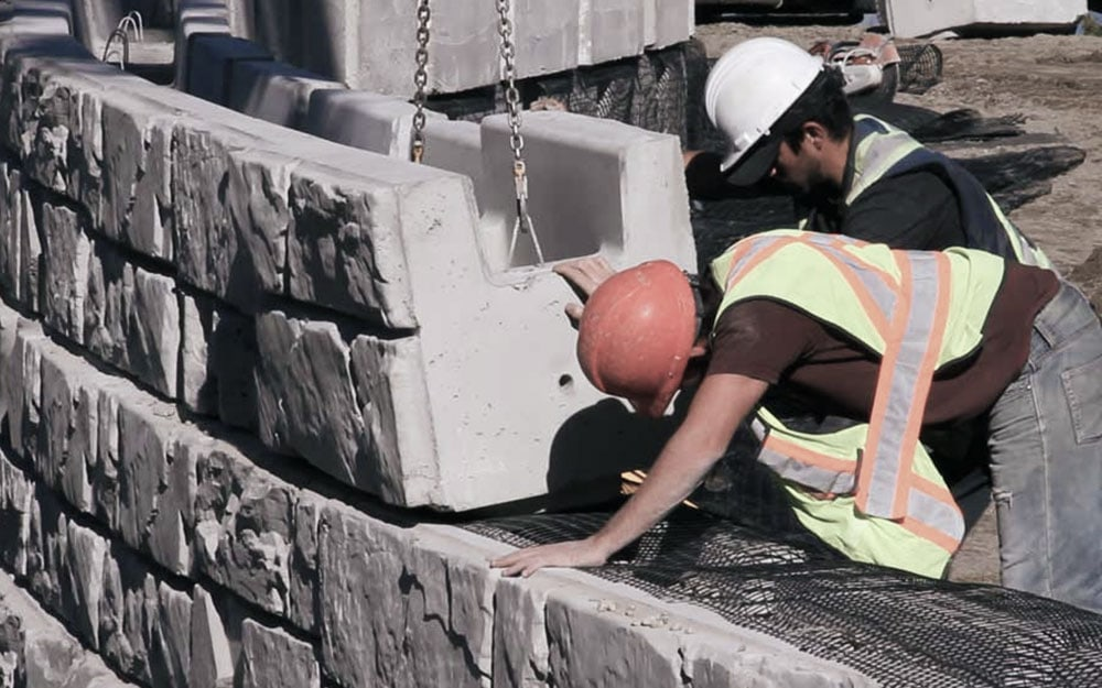 MagnumStone uses 40% less concrete